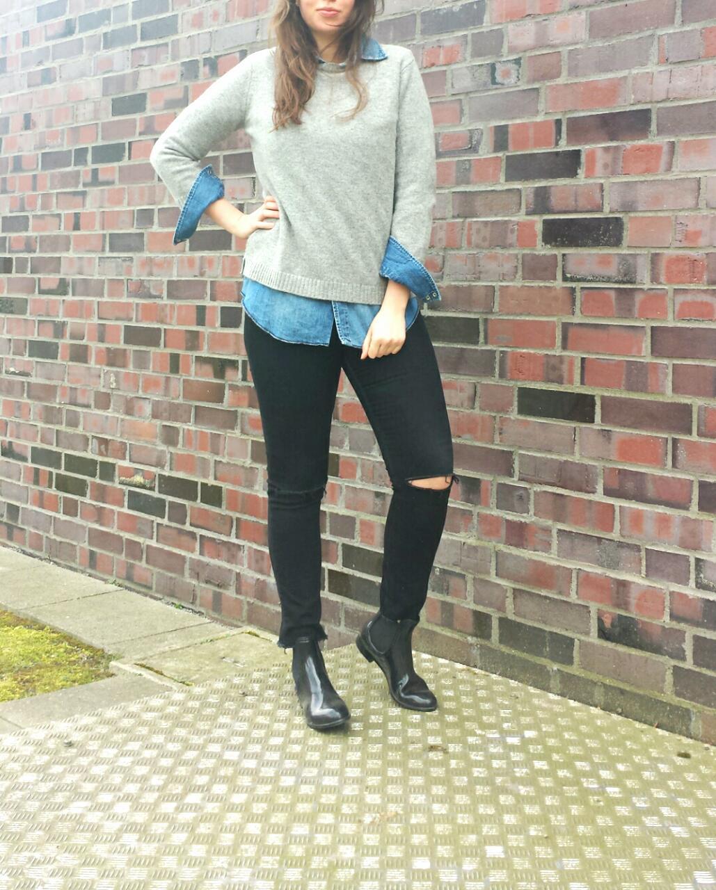 jeanshemd damen richtig kombinieren stylische jeans in dieser saison. Black Bedroom Furniture Sets. Home Design Ideas