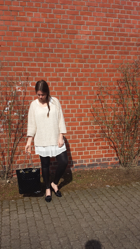 Outfit of the day - Modegeschmack - Glitzerpullover