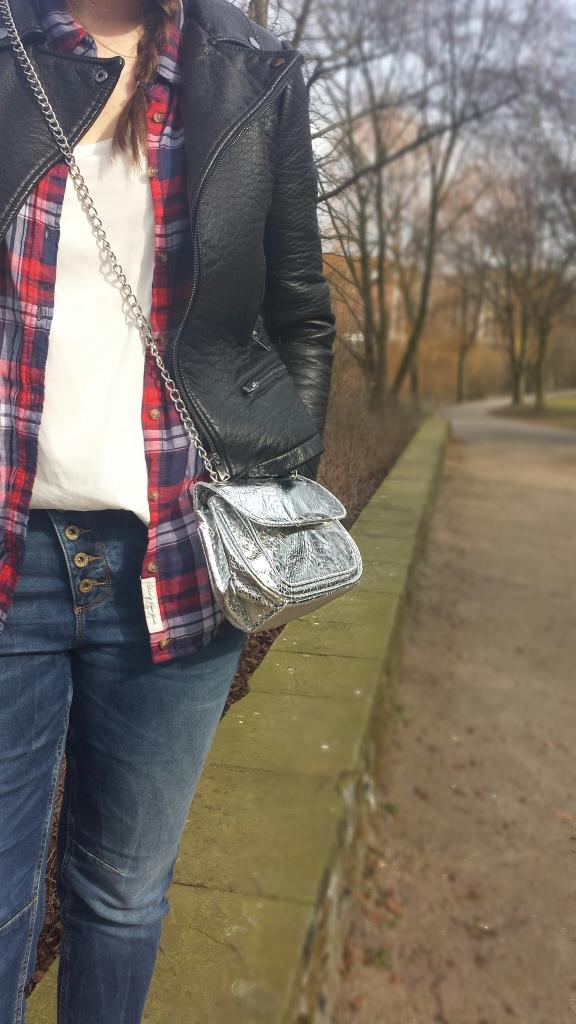 Silber Tasche zum Umhängen