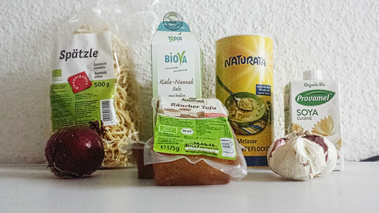 Vegane Spätzle Carbonara