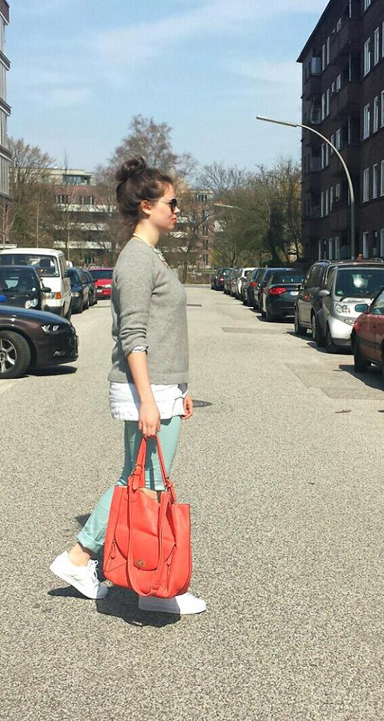 Outfit of the day - orange Tasche-Modegeschmack
