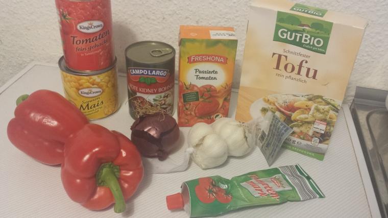 Chili Sin Carne Vegan Zutaten1