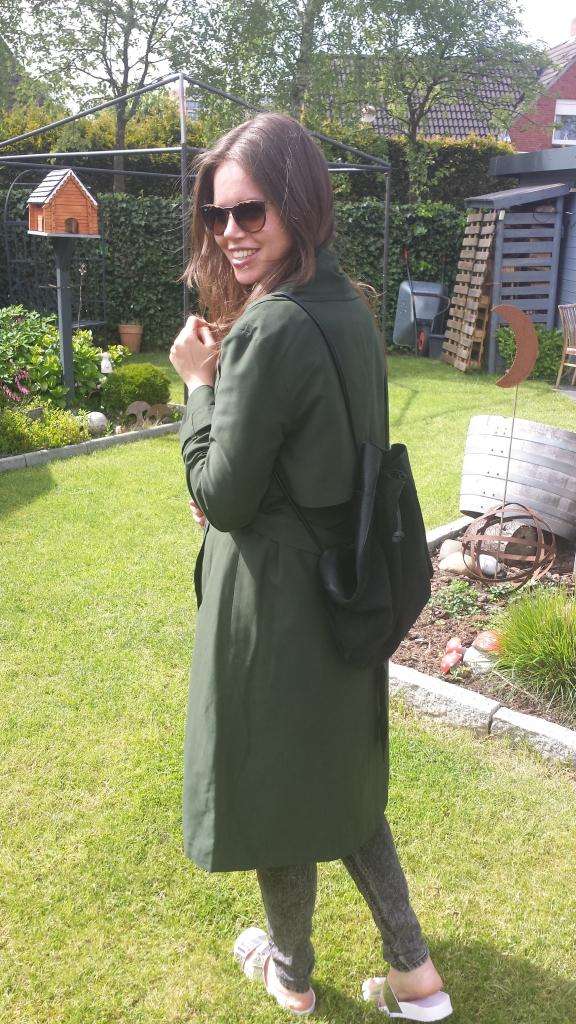 Trenchcoat grün
