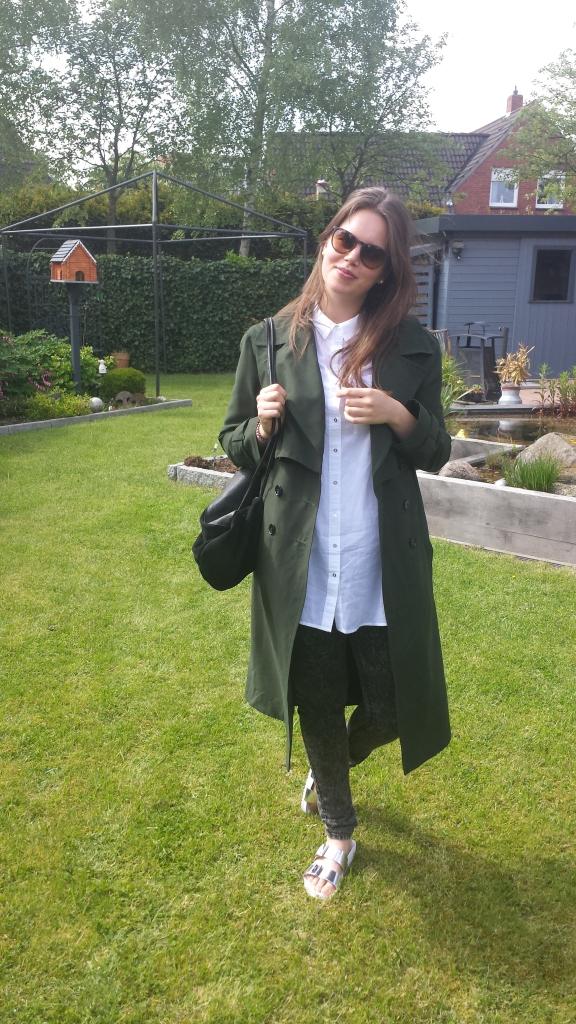 Langer Mantel grün:oversized