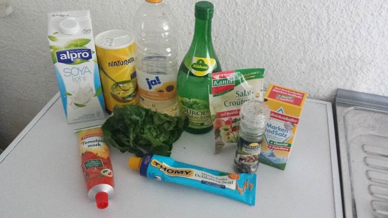 Caeser Salad vegan -Rezept-Zutaten