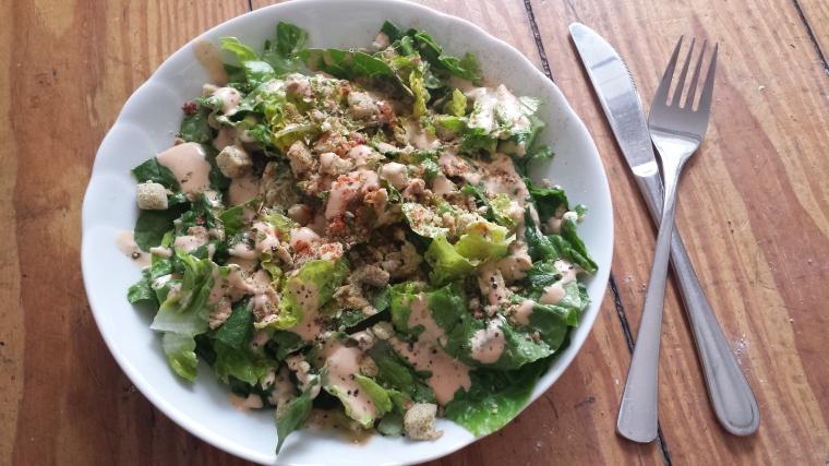 Caeser Salad vegan -Rezept1