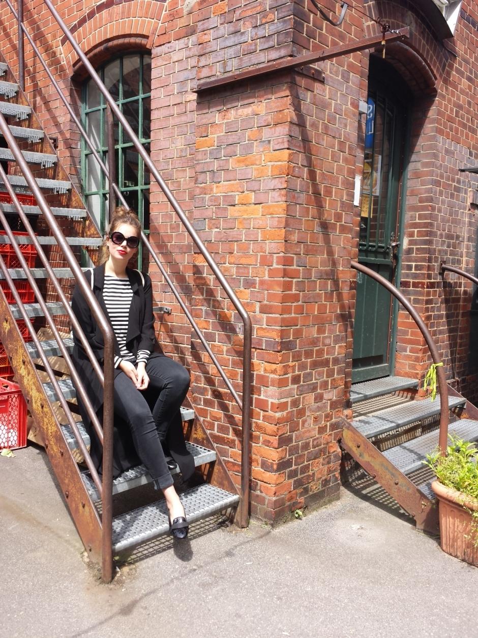 Schwarz Weiß - Streifen Outfit