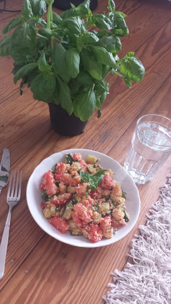 Wassermelonen Salat - lecker und herzhaft!