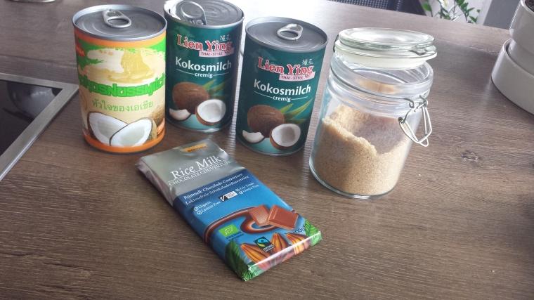 Veganes Kokoseis - Zutaten