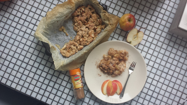 Apple Crumble vegan2 gesund