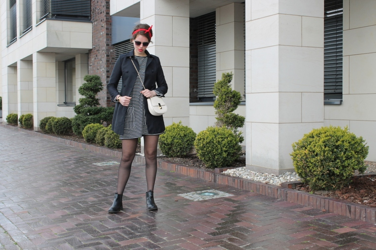 Gestreiftes Pulloverkleid - Chloe Drew Replicat-Bandana rot