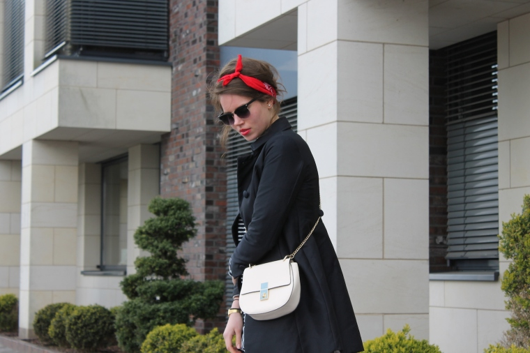 Gestreiftes Pulloverkleid - Chloe Drew Replicat-Bandana rot4