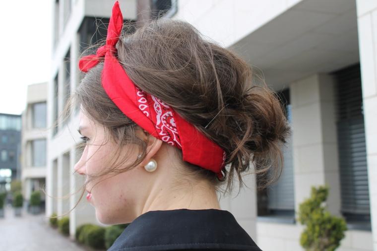 Gestreiftes Pulloverkleid - Chloe Drew Replicat-Bandana rot6