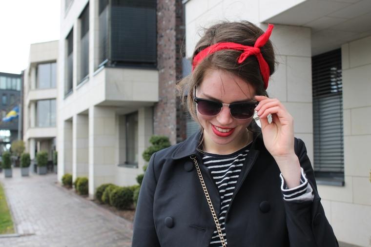 Gestreiftes Pulloverkleid - Chloe Drew Replicat-Bandana rot7